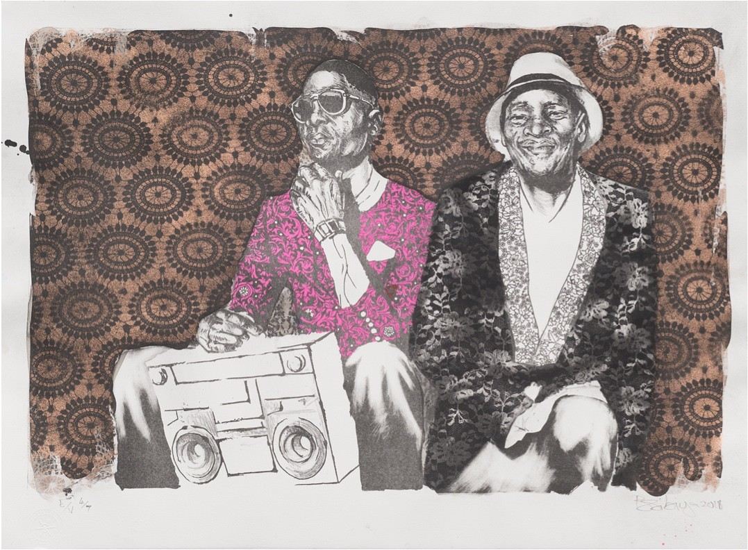 Bambo Sibiya, The Vibe, lithographie ©Atelier le Grand Village