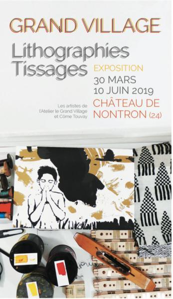 Atelier le Grand Village lithographs and weavings