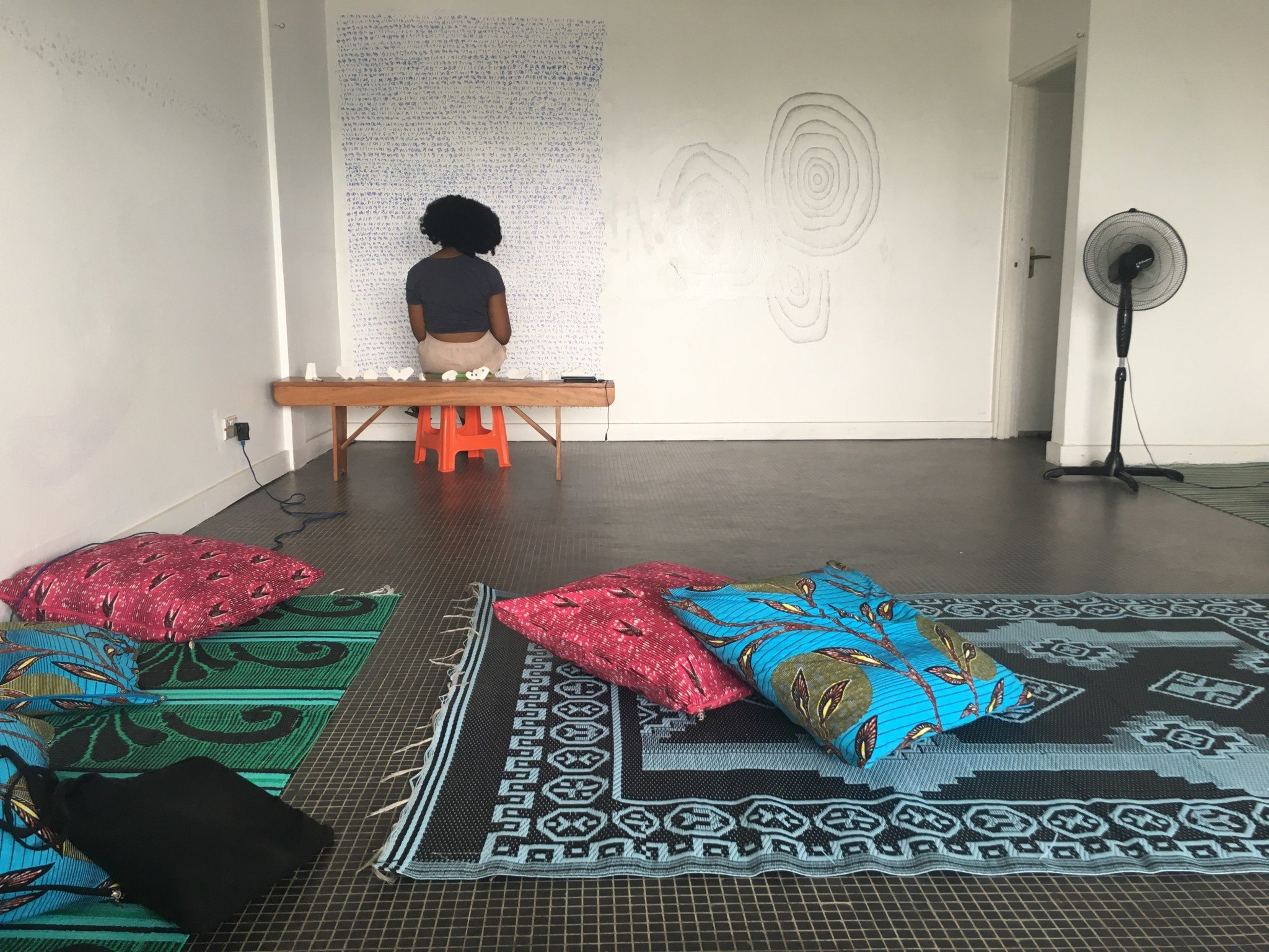 A performative presentation by artist WURA-NATASHA OGUNJI. Located in a top flat of a seven-story building in Lagos, Nigeria and founded by artist Wura-Natasha Ogunji, The Treehouse is one of the city's only art spaces dedicated solely to creative experimentation. In this performance presentation Ogunji invokes the artists and atmosphere of this dynamic place.