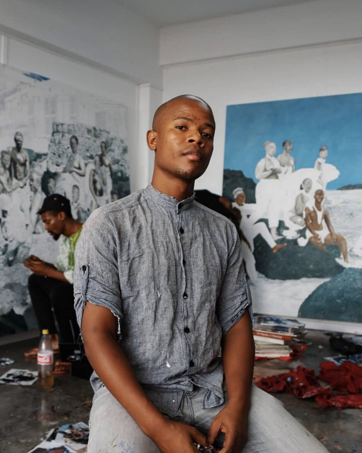 Cinga Samson is currently represented by the Perrotin International Gallery and the Blank Project South African Gallery