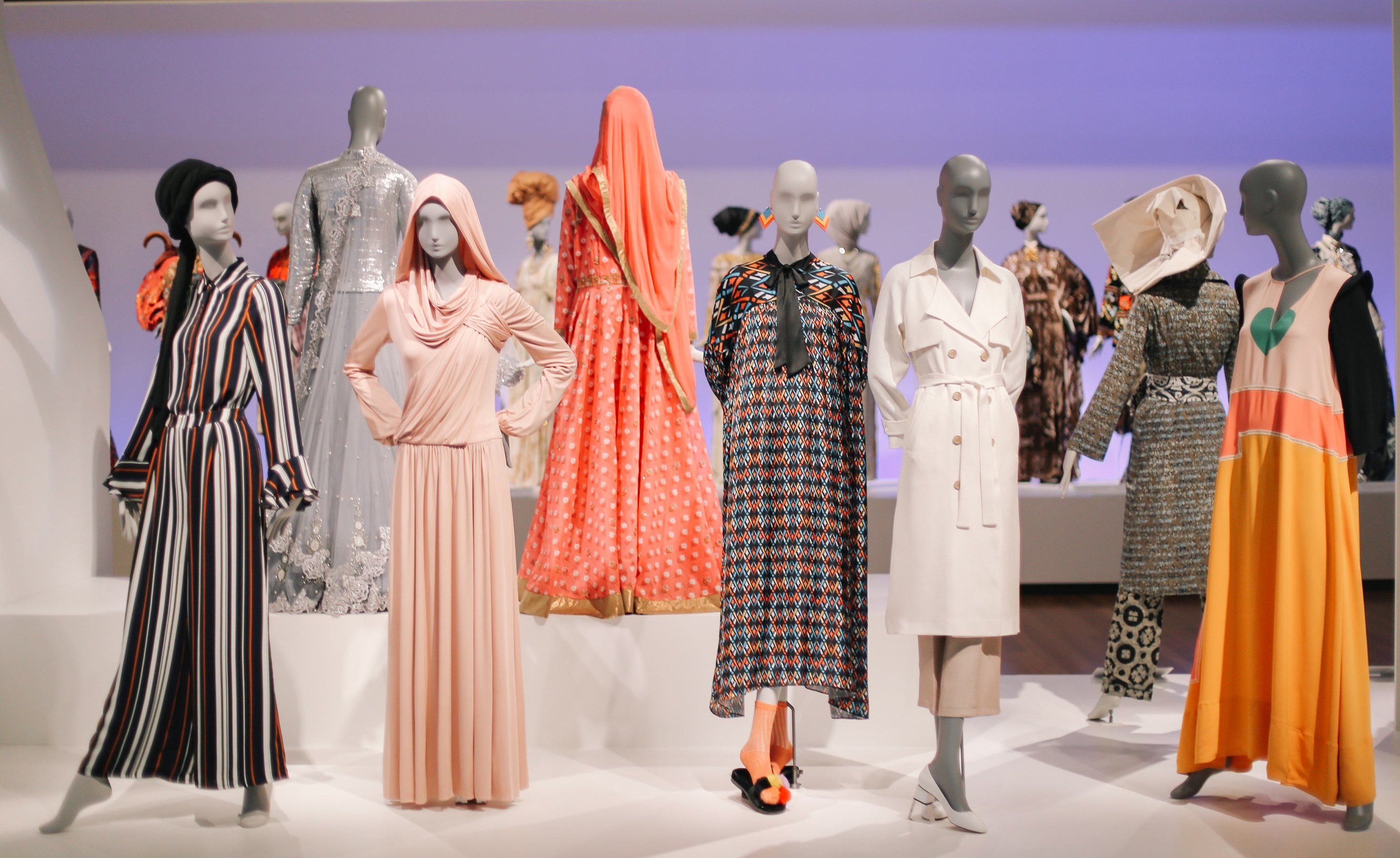 "A view of the ""Contemporary Muslim Fashions"" exhibit"