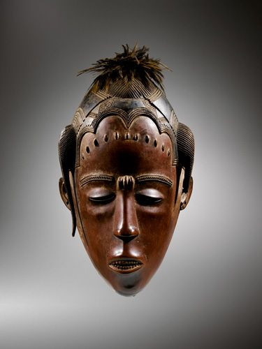 MASK, GURO, IVORY COAST Height 29.5 cm PROVENANCE: Collection Marceau Rivière, Paris, acquired ca. 1978