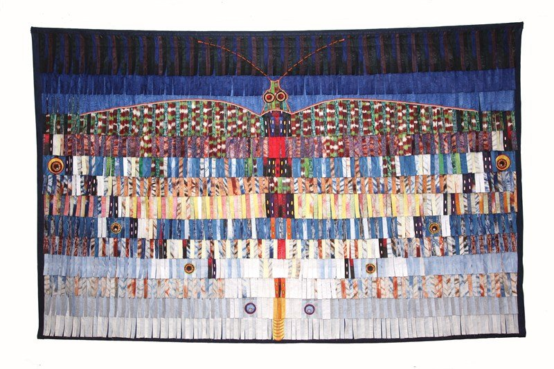 Papillon AK 3 Technique: Textile Date: 2016 Dimensions: 362 x 234 cm Courtesy of Lagalerie38