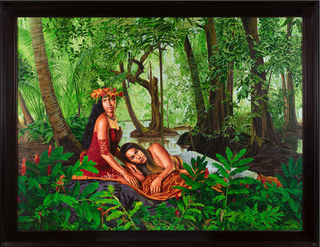 Kehinde Wiley - The Siesta, 2019 HUILE SUR LIN, 210 X 271,5 CM, 82 7/8 X 106 7/8 IN, Courtesy Galerie Templon