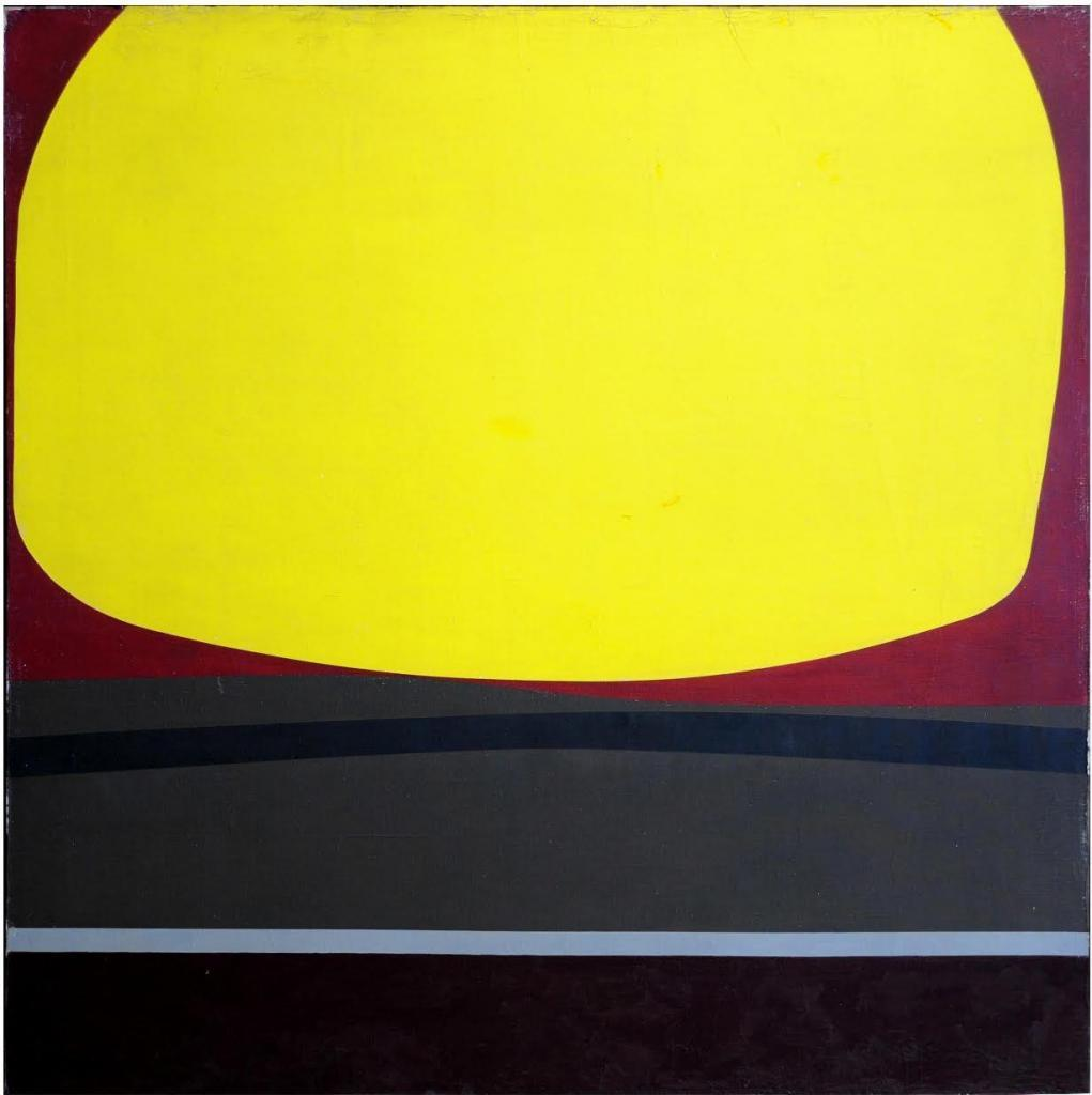 New Waves - Mohamed Melehi, Solar Nostalgia II, 1962 Oil on canvas, 122 x 122 cm Collection Mohamed Melehi Courtesy of the MACAAL