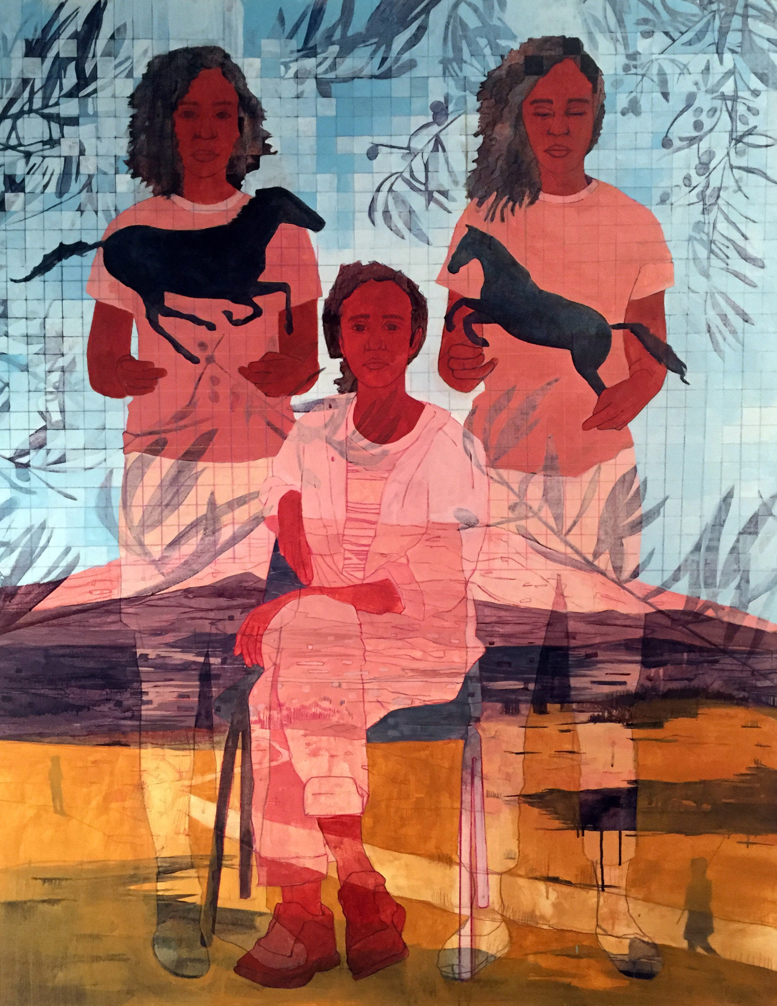 Pamela Phatsimo Sunstrum, Sister, 2018. One of the artist present at the 1-54 fair 2019 at London