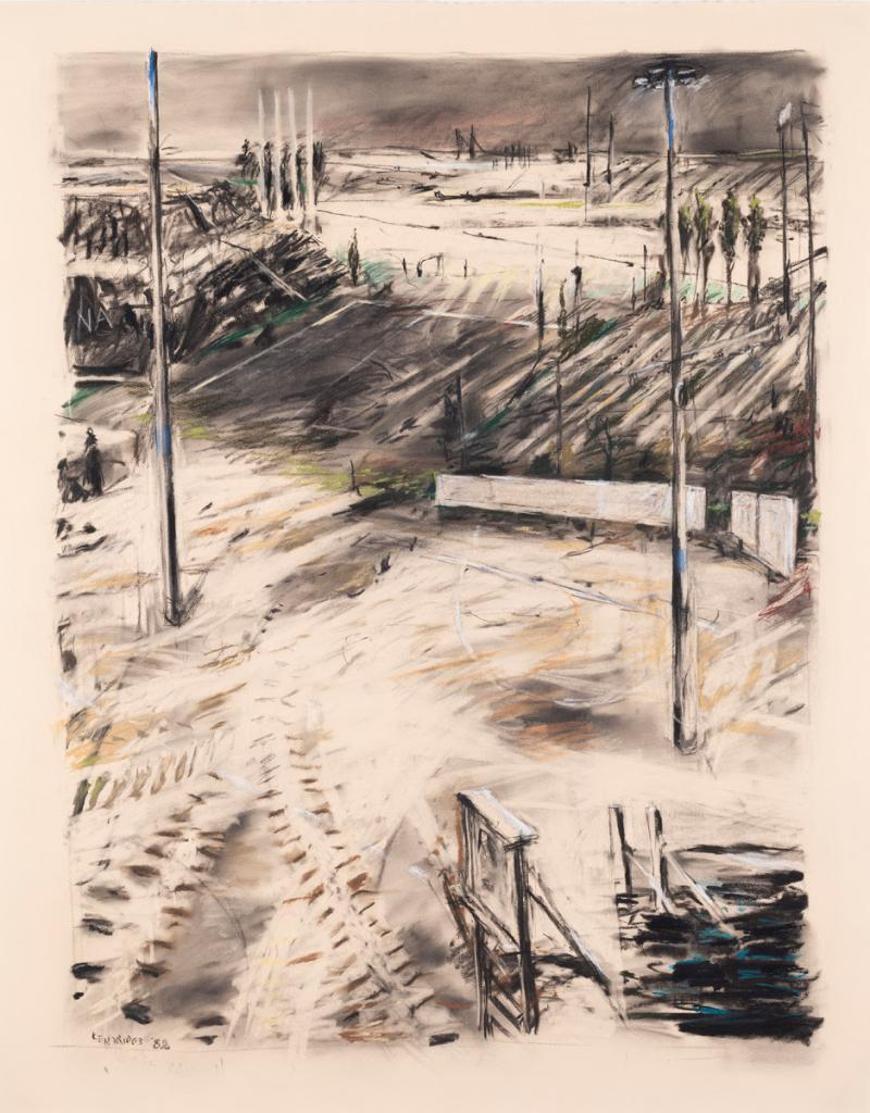 William Kentridge, Untitled (Witwatersrand landscape), 1988 | SOLD FOR R2 731 200