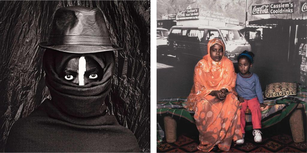 Left: Zanele Muholi, Isililo XX, 2014 | SOLD FOR R68 280 Right: Sue Williamson, Deka Yusuf Farrh and Nisa, 2003 | SOLD FOR R45 520 (Second highest price at auction for the artist)