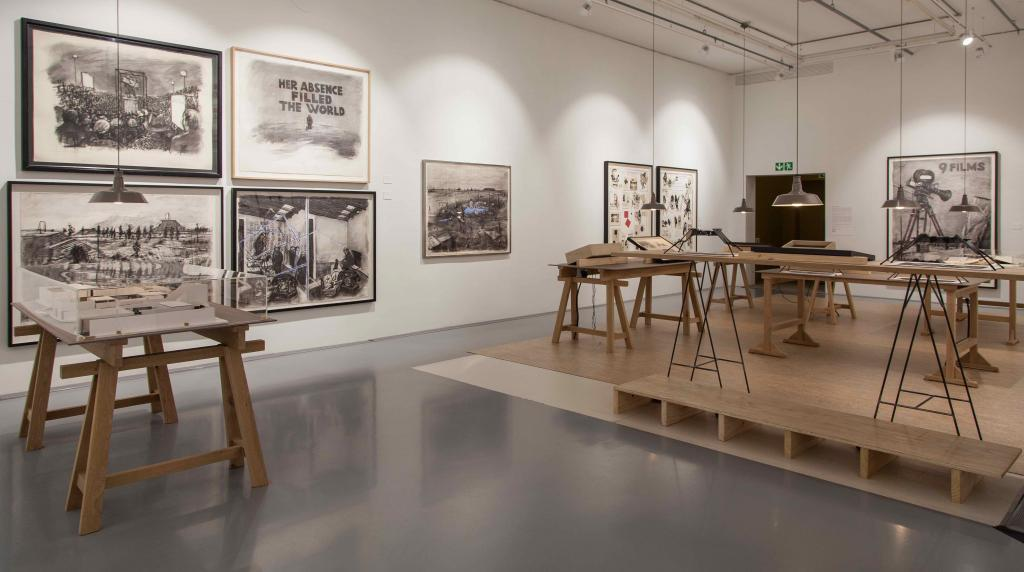 William Kentridge, Putting drawings to work. William Kentridge, The Studio. Installation View, Zeitz MOCAA 2019. ©Anel Wessels