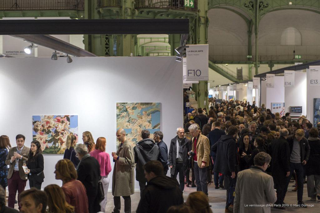 The opening of Art Paris 2019. © Marc Domage