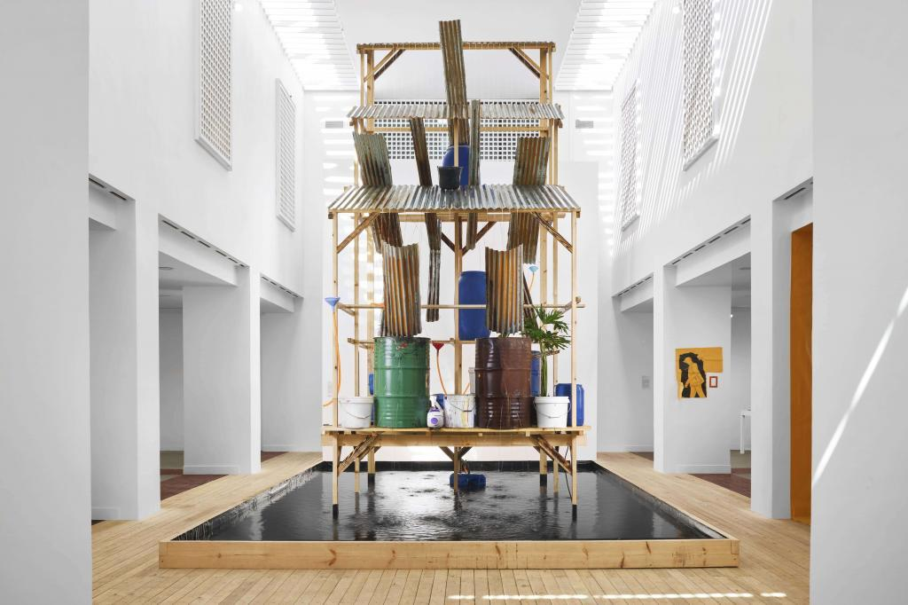 Daniel Otero Torres's installation at the MACAAL for the exhibition Have you seen the horizon lately ? 10 Museums of Contemporary Art To explore African and American Art