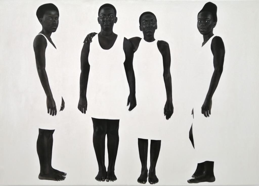 Sungi Mlengeya, At the end of the evening, 2020, Acrylic on canvas, 140x200cm