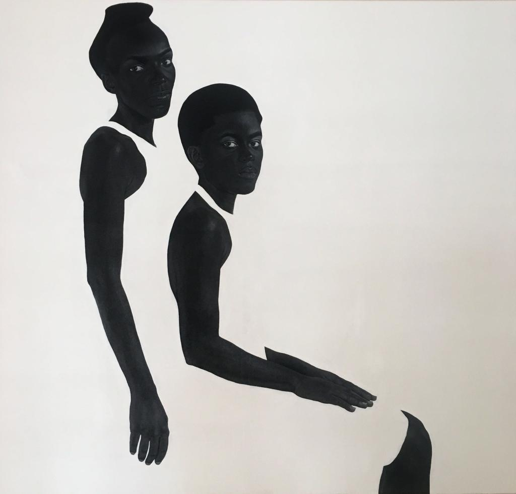 Sungi Mlengeya, The hems of our skirts, 2020, Acrylic on canvas, 140x130cm.
