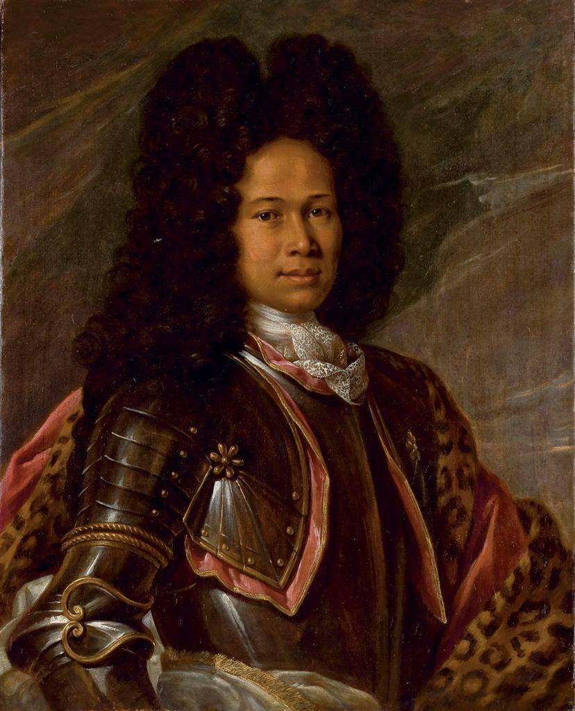 « Portrait of a biracial man in armor » (c.1680-1730), Entourage of François de Troie Sold at Christie's in 2010.