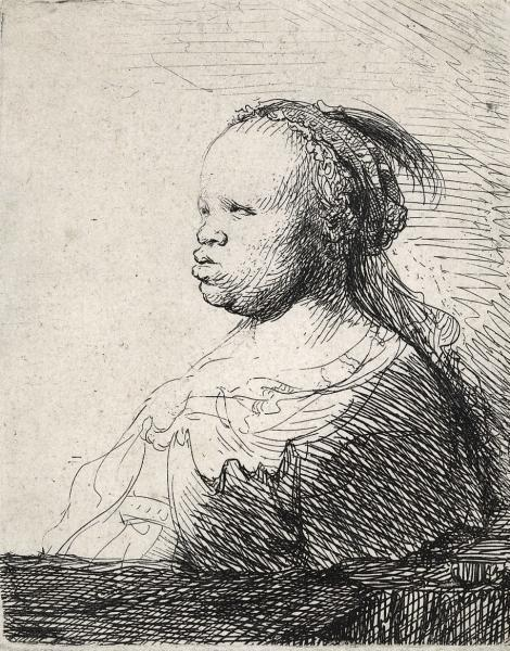 Rembrandt, Bust of a Woman, 1630. Amsterdam, Museum Het Rembrandthuis
