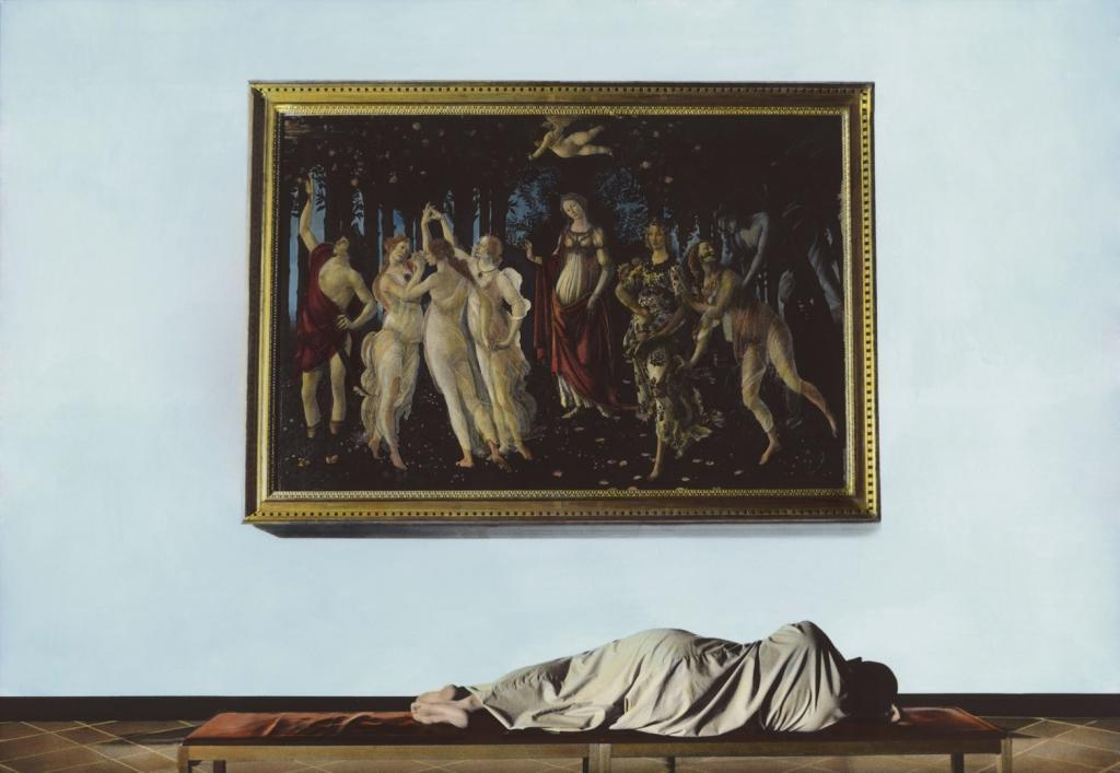 Youssef Nabil, Self-portrait with Botticelli, Florence 2009 hand-colored gelatin silver print Pinault Collection