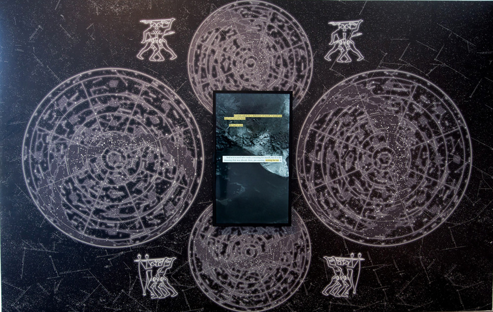 Nolan Oswald Dennis: Black Liberation Zodiac (pre-alpha v.01), 2017, wallpaper and video. Courtesy Kalmar Konstmuseum.  New Media Art And Technology in Africa - Part II