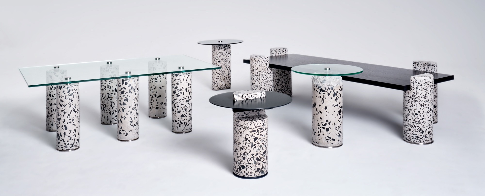 "Collection de tables basses et d'appoint ""Core"" par le studio Oliver Whyte"