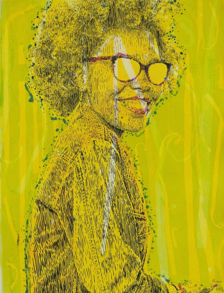 Evans Mbugua, Who's that Girl, EV 10/16, 2020. Monotype. Courtesy of Atelier le grand Village.