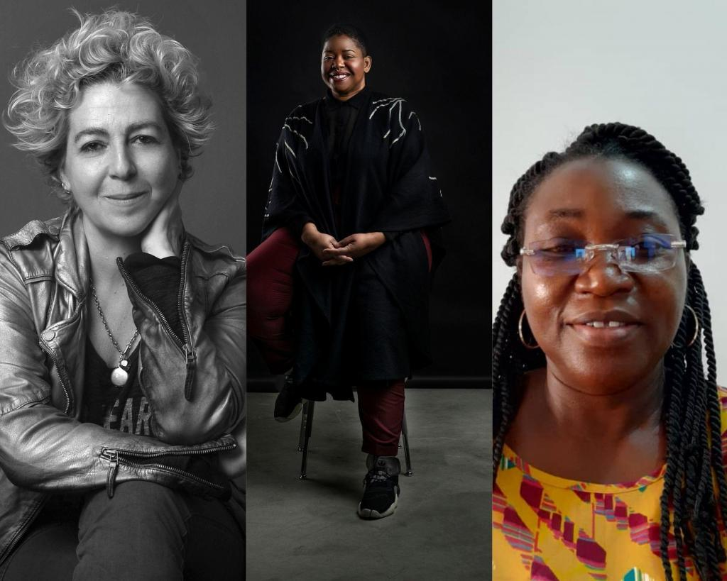 Jurors of Emerging Painting Invitational (EPI) 2020, from left to right: Amel Bennys, Florine Demosthene and Dorothy Amenuke. © EPI 2020