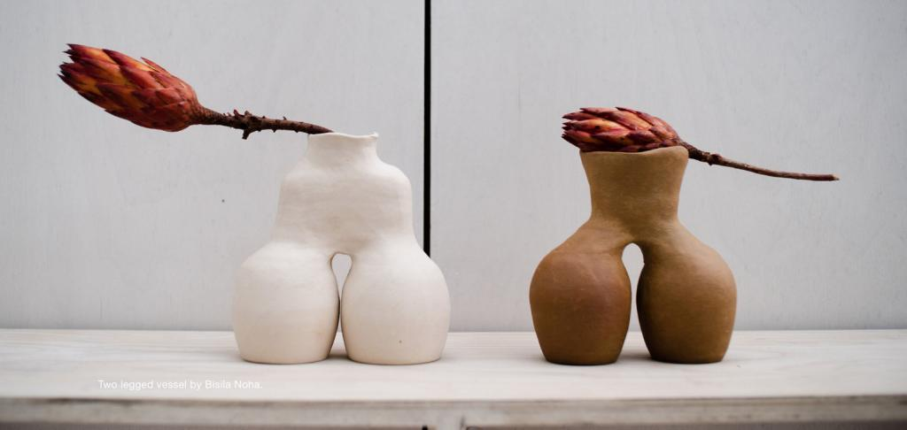 Two-Legged Vessel from the Baney Clay series by Bisila Noha.