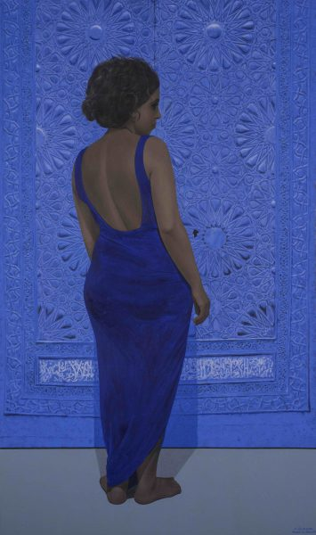 Ibrahim El Dessouki, Doors and False Doors 4, 2012, Oil on canvas, 185 x 110cm. Courtesy of Hafez Gallery