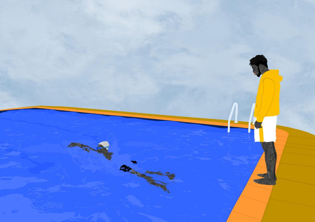 Osinachi, POOL DAY II – PORTRAIT OF AN ARTIST (2021). Courtesy of the artist and Daria Borisova. Osinachi will be participating in 'The Virtual Salon' on Thursday, 14 October at 19:00 GMT 1-54 Contemporary African Art Fair